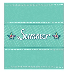 Summer pattern with inscription vector image