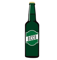 Beer bottle with label vector image vector image