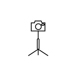 camera stand icon vector image vector image