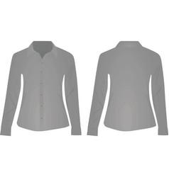 gray women shirt long sleeve vector image