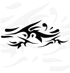 silhouette of tattoo vector image