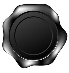 black wax seal vector image vector image