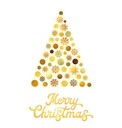 Christmas tree isolated on white background vector