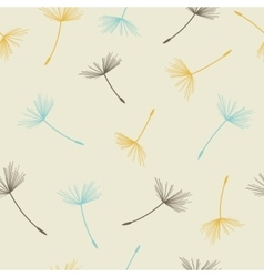 Dandelion seamless pattern vector image vector image