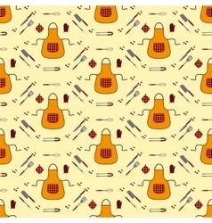 Kitchen seamless pattern vector image