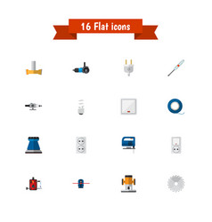 set of 16 editable electrical icons includes vector image vector image
