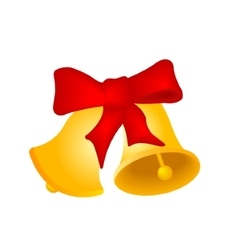 Two Christmas hand bells vector image