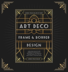 Art deco frame design for your design vector image vector image