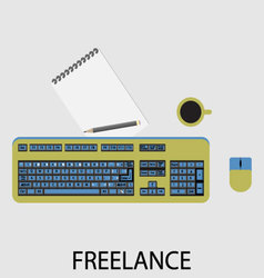 Freelance icon flat design vector image vector image