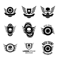 Moto wheel Logo Symbols vector image vector image
