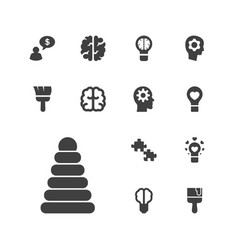 13 creativity icons vector