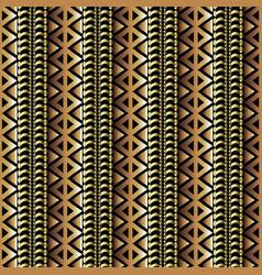 3d seamless borders pattern ornamental tribal vector image
