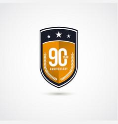 90 years anniversary celebration label logo vector
