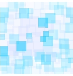 Abstract azure squares background vector