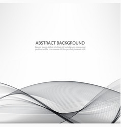 abstract background gray waves vector image