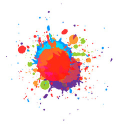 Abstract paint multi color background vector