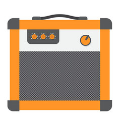 Amplifier flat icon music and instrument vector