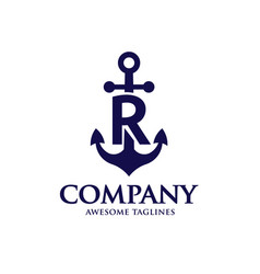 anchor letter r vector image