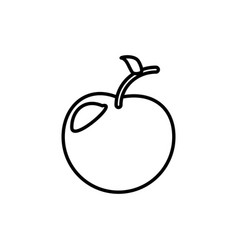 apple fruit healthy outline vector image