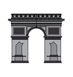 arc de triomphe icon image vector image
