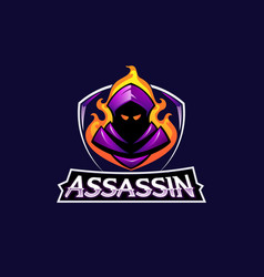 Assassin mascot logo icon design vector