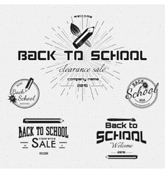 Back to School badges logos and labels for any use vector image