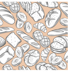 Bakery decorative seamless pattern vector