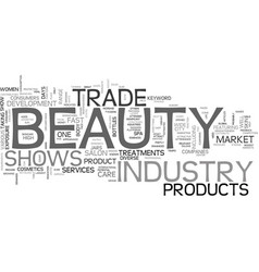 Beauty trade shows text word cloud concept vector