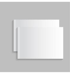 Blank empty magazine album or book vector