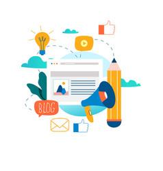 Blogging education creative writing vector