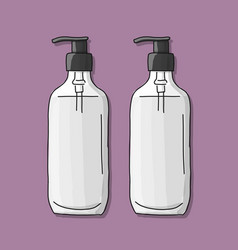 bottle mockup sketch for your design vector image