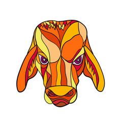 Brahma bull head mosaic color vector