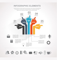 business infographics element vector image