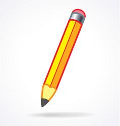 cartoon pencil with eraser vector image