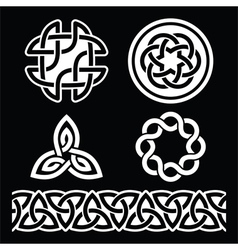 celtic irish patterns and knots - st patri vector image