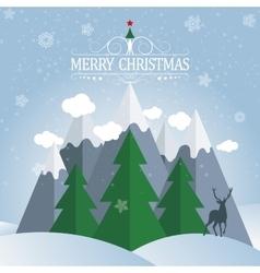 Christmas card Winter holidays landscape vector image