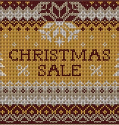 Christmas Sale Scandinavian style seamless knitted vector