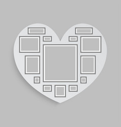 collage love heart fourteen frames photos parts vector image
