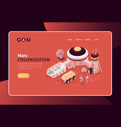 colonizing mars website banner vector image
