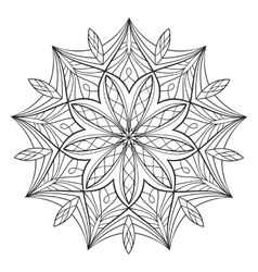 Coloring book for adults vector image