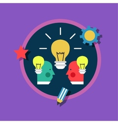 Creative design process concept with web studio vector