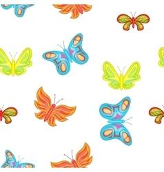 Creatures butterflies pattern cartoon style vector image