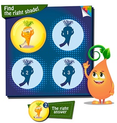 Find the right shade carrot vector image