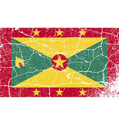Flag of Grenada with old texture vector image