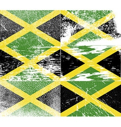 Flag of Jamaica with old texture vector image