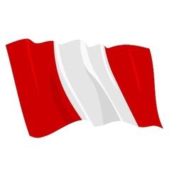 Flag of peru vector