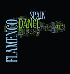 flamenco dance in spain text background word vector image