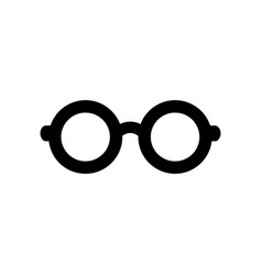 Flat line glasses icon vector