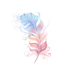 fluffy powder feather vector image