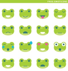 Frog emoticons vector image